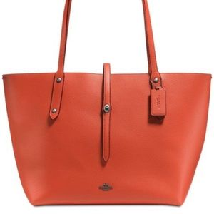Orange Coach Large Market Tote new without tags